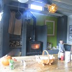Wood burner and communal seating