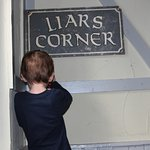 My son being silly at the Liar's Corner