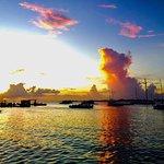 Sunset at Simpson Bay Resort