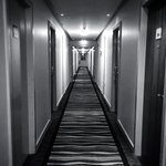 Look of the corridor (Black and white image)