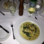 Grouper Piccatta and Wild Gulf Shrimp Grattan