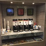 Coffee station in the lobby