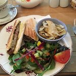 A sausage and cheese panini - very tasty!