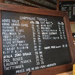 Champagne list at El Farallon - recommend the Pol Roger.