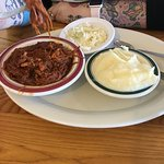 Apple Cider BBQ, Mashed Potatoes and Slaw