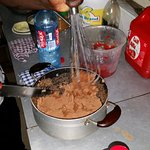 Beeting the peanut paste
