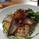 Sea Bass and crayfish risotto