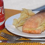 daphne's chicken and cheese panini...and a real coke!