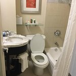 The bathroom was very tightly packed together.