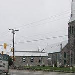 Quinn's Inn is across from a beautiful church