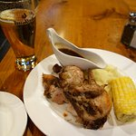 Chicken, Mashed & Corn at the Outpost Pub