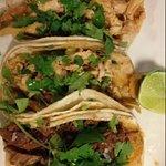 Chicken and Barbacoa tacos - delicious!