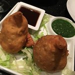 Vegetable samosa $5.99: Batch on the dry side though tasty - seasoned potatoes & green peas wrap