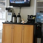 Great coffee and computer system in lobby