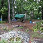 Our campsite, occupied