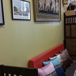 Lovely Thai silk cushions and art