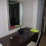 desk by TV, plenty of outlets