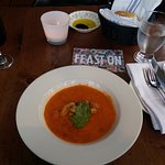 Tomato basil soup with house-made croutons