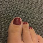 Pedicure, not great, gel polish which is dull, smeared and chipped same day