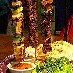 Mixed Kebab with ribeye steak, merguez adana & chicken shishkebab