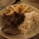 Daily special: beef, French fries and rice