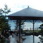 Hotel provate onsen, by lake