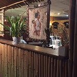 Cecor in restaurant entrance give a taste of Ethiopia.
