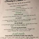 Canine Cuisine menu (really)