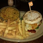 The new Sunset Burger with Peri salted chips and Spicy Rice