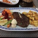 Steak, particularly amazing potatoes