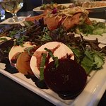 Beet Caprese Salad Red & Golden Beets, Baby Greens, Fig-Balsamic Glaze, Fresh Mozzarella Cheese