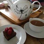 Tea and cake awaited us on arrival