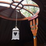 open roof in moonbeam yurt