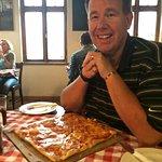 Delicious square pizza