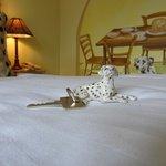 Spotted Dick & Custard room