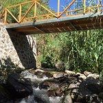 bridge over river beside property
