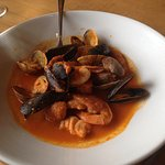 Cioppino - prawns, clams, mussels, fish and chorizo sausage
