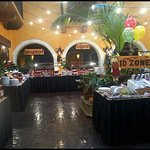 Very large Sunday Brunch buffet area, tons of choices