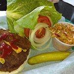 Rockin Elvis Burger with cole slaw