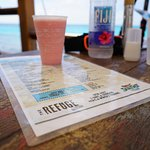 Frozen drink and menu
