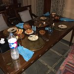 Most authentic Egyptian dining with the most hospitable staff! Table before---table during---and