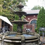The beautiful fountain on the patio was so relaxing to dine by!