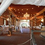 Chamuette Winery Barn-decorated for wedding.
