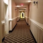hotel hallway on first floor