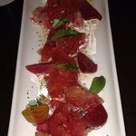 Beet and Watermelon appetizer we really enjoyed.