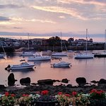 Rockport Harbor Sunset Low Tide view from patio/suite
