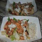 Food was amazing. Fish tacos.