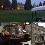 Bar food, hotel from golf course