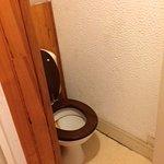 pas de séparation des WC