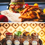 All burgers come with a relish of choice and are served with lettuce, tomatoes, pickles & side s